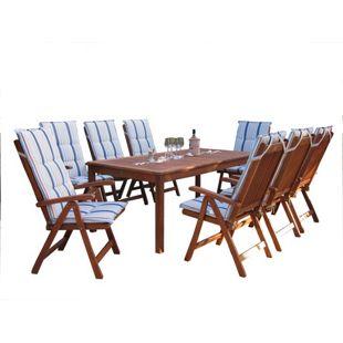 Grasekamp Gartenmöbel 17tlg mit 200cm Tisch  Terrassenmöbel  Santos Marine