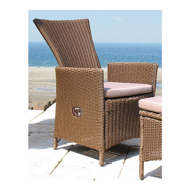 grasekamp rattan sessel verstellbar inkl sitzkissen gartensessel polyrattan online kaufen. Black Bedroom Furniture Sets. Home Design Ideas
