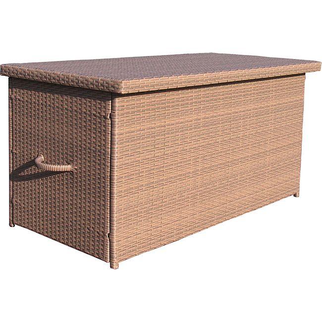 grasekamp rattan kissenbox xxl auflagenbox gartenbox truhe lounge braun online kaufen. Black Bedroom Furniture Sets. Home Design Ideas