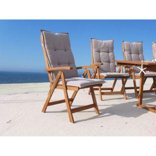 Grasekamp 4 Stück Auflagen Sand zu Sessel  Klappsessel Gartensessel