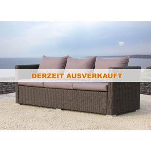 Famous Home Rattan Lounge Sofa 200cm Pepe Braun  Couch Futon Couchgarnitur