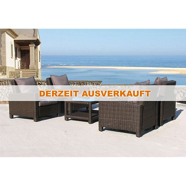 grasekamp rattan lounge 14tlg loungem bel gartenm bel rattanm bel braun online kaufen. Black Bedroom Furniture Sets. Home Design Ideas