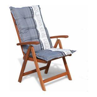 Grasekamp Klappsessel Cuba mit Kissen Garden Grey  Relaxsessel Sessel Gartenmöbel