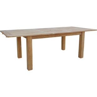 Grasekamp Teak Tisch 160/220x100 cm ausziehbar  Esstisch Gartenmöbel Gartentisch  Holztisch