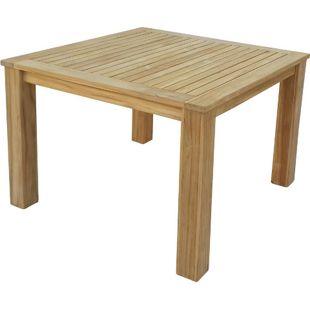 Grasekamp Teak Tisch 100x100 cm Esstisch  Gartenmöbel Gartentisch Holztisch