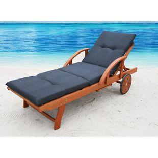 Grasekamp Auflage Anthrazit für Gartenliege  Liegestuhl Sonnenliege Relaxliege