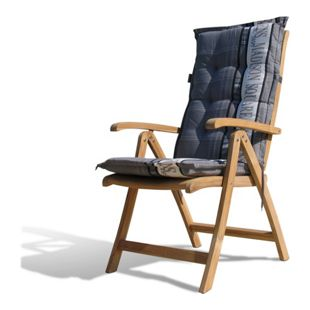 Grasekamp Teak Sessel mit Kissen Garden Grey  Gartenstühle Klappstuhl Teak Holz  Gartenmöbel