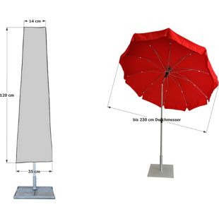 Grasekamp Schirmhülle  Länge 120cm Sonnenschirm  Schutzhaube Schutzhülle Abdeckplane
