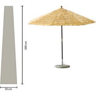 Grasekamp Schirmhülle 200cm lang Sonnenschirm bis  Ø 350 cm Schutzhülle Schutzhaube  Abdeckplane Weiß