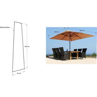 Grasekamp Schirmhülle 260x70cm Polyethylen mit  Reißverschluss und Montagestab