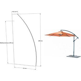 Grasekamp Schutzhülle Ampelschirm 3m Abdeckung  Wetterschutz Schirmhülle Weiß