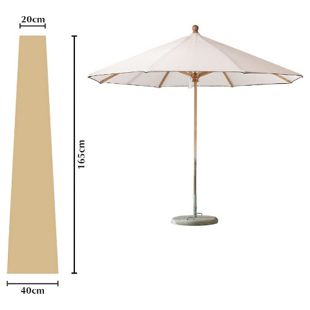 Grasekamp Schutzhülle Sonnenschirm bis ca. 300 cm  Ø Länge 165 cm Beige