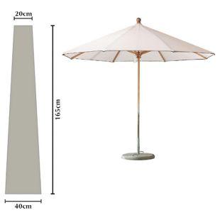 Grasekamp Schutzhülle Länge 165cm zu Sonnenschirme  bis Ø 300cm Schutzhaube Abdeckplane
