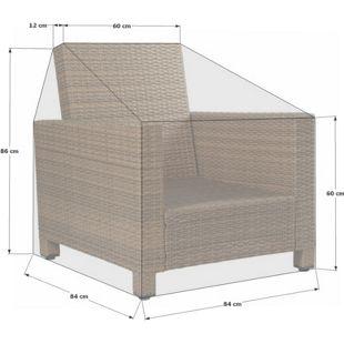 Grasekamp Schutzhülle zu Lanzarote Lounge Sessel  PVC Gewebe
