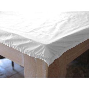 Grasekamp Schutzhülle Tischplatte 200x100cm  Abdeckung Plane Abdeckhaube Weiß