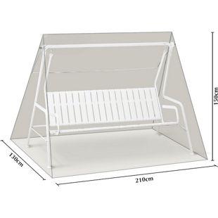 Grasekamp Schutzhülle Hellgrau für 3 Sitzer  Hollywoodschaukel aus Polyester 300D