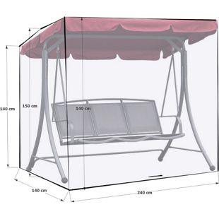Grasekamp Schutzhülle Gartenschaukel 240x140x145cm  Italia Weiß Schutzhaube Abdeckung  Hollywoodschaukel