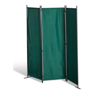 Grasekamp Paravent 3 teilig Grün Raumteiler  Trennwand Sichtschutz Stellwand