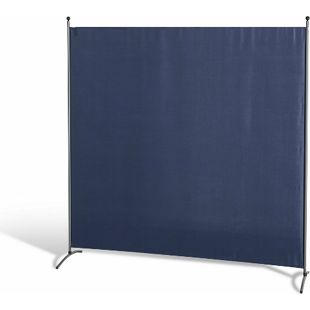 Grasekamp Stellwand 180 x 180 cm Blau Paravent  Raumteiler Trennwand Sichtschutz