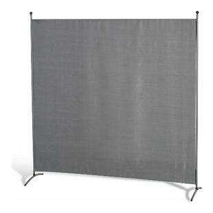 Grasekamp Stellwand 180 x 180 cm Grau Paravent  Raumteiler Trennwand Sichtschutz