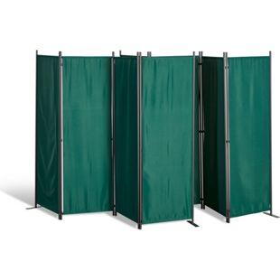 Grasekamp 2 Stück Paravent 4tlg Raumteiler  Trennwand Sichtschutz Grün
