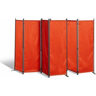 Grasekamp 2 Stück Paravent 4tlg Raumteiler  Trennwand Sichtschutz Terra