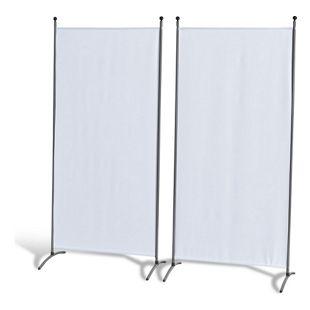Grasekamp 2 Stück Stellwand 85 x 180 cm Weiß  Paravent Raumteiler Trennwand  Sichtschutz