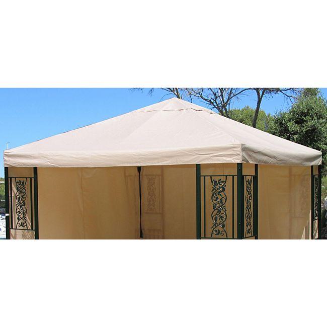 grasekamp ersatzdach roma garten pavillon 3x3m ersatz plane bezug beige online kaufen. Black Bedroom Furniture Sets. Home Design Ideas