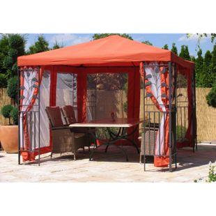 Grasekamp 4 Seitenteile Terra zu Blätter Pavillon  3 x 3 m mit Moskitonetz
