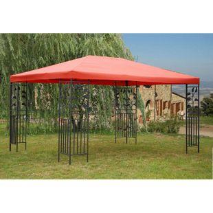 Grasekamp Blätter-Pavillon 3x4m - Terrakotta