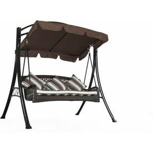 Grasekamp Hollywoodschaukel Portofino Polyrattan  Relax Liege Schaukel Gartenliege