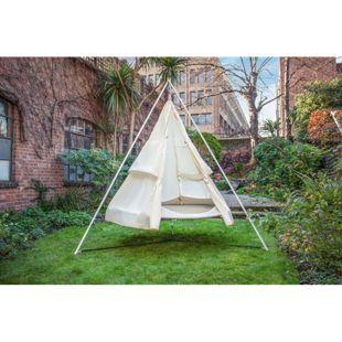 Grasekamp Regenschutz für Tipi Zelt Hängematte  Ø 180cm Beige