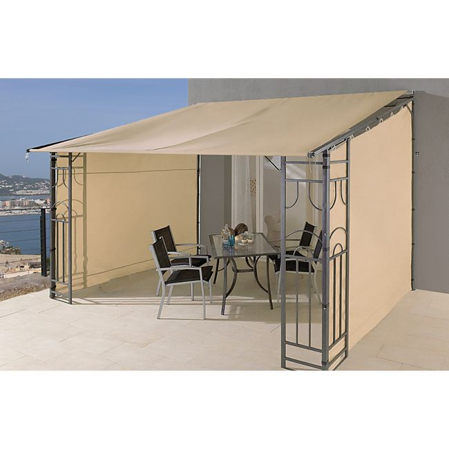 grasekamp anbaupergola markise rollo romana 3x4 meter sand online kaufen. Black Bedroom Furniture Sets. Home Design Ideas