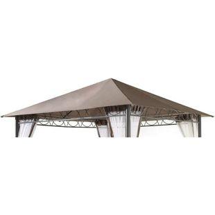 Grasekamp Ersatzdach 3x3m Stil Pavillon Taupe  Plane Bezug Gartenpavillon