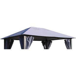 Grasekamp Ersatzdach zu Pavillon Paris 3x4m  Platingrau