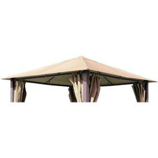 Grasekamp Ersatzdach zu Pavillon Paris 3x3m Sand  Plane Bezug Gartenpavillon