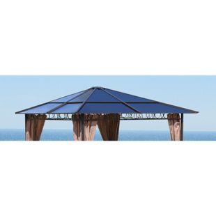 Grasekamp Ersatzdach Hardtop Pavillon 3x3m  Doppelstegplatten Polycarbonat Braun
