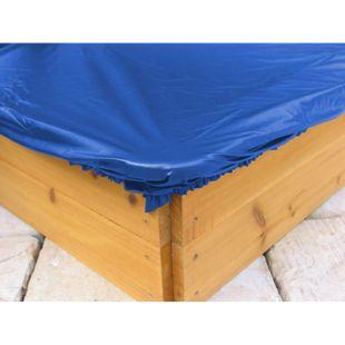 Grasekamp Sandkastenabdeckung Plane für Sandkasten  120x120cm Blau