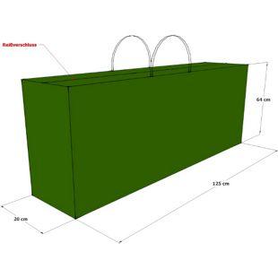 Grasekamp Kissentasche Schutztasche Tragetasche  für 2 Rollliegen Auflagen Grün
