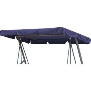Grasekamp Ersatzdach Universal Hollywoodschaukel  Blau Ersatz-Bezug Sonnendach Dachplane