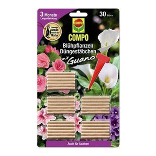 #COMPO Blühpflanzen Düngestäbchen mit Guano,30 Stäbchen