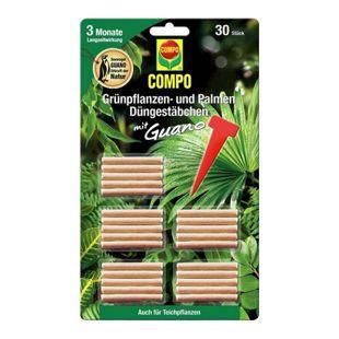#COMPO Grünpflanzen- und Palmen Düngestäbchen mit Guano,30 Stäbchen
