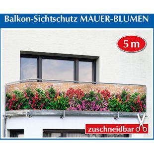 """Balkon-Sichtschutz """"Mauer-Blumen"""",1 Stück"""