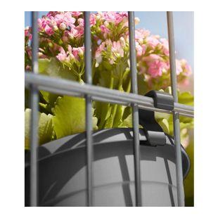 """EMSA® """"My City Garden"""" Topfhaken anthrazit für Doppelstab-Mattenzäune,1 Pack."""