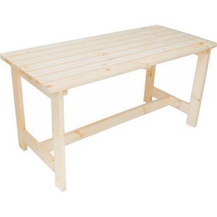 GARDENho.me Massivholz Tisch BERGEN Gartentisch Holztisch, Natur, ca. 148x65x74 cm