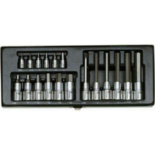 Proxxon Steckschlüsselsatz Hex 1 4 und1 2 18-tlg.