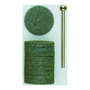Proxxon Silizium-Carbid-Schleifscheiben 22 mm  und1 Träger