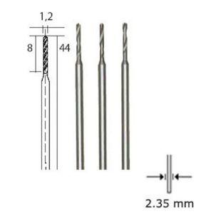 Proxxon Mikro-Spiralbohrer HSS-Stahl  1 2 mm 3 Stück