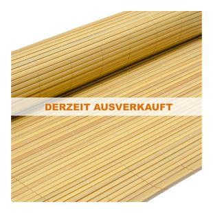 PVC Sichtschutzmatte 120 x 400 cm Bambus