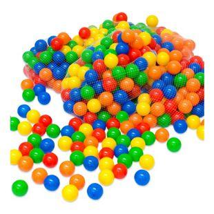 600 bunte Bälle für Bällebad 5,5cm Babybälle Plastikbälle Baby Spielbälle